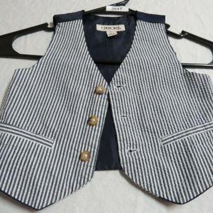 18M Blue Stripe INFANT BOYS Cotton #264T Suit Vest